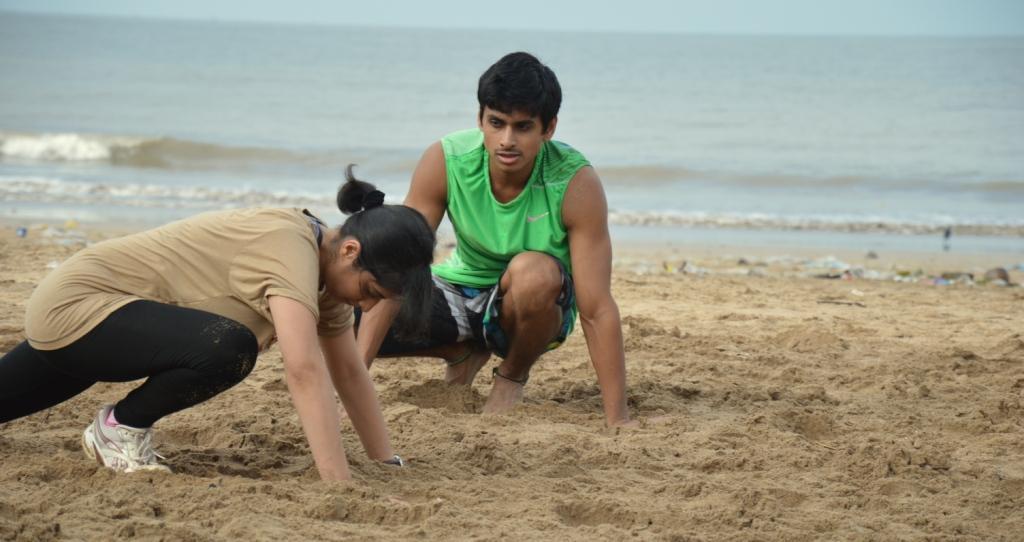 Juhu Beach workout