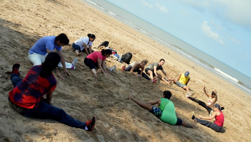 Boot camp on Juhu beach by Nupur shikhare