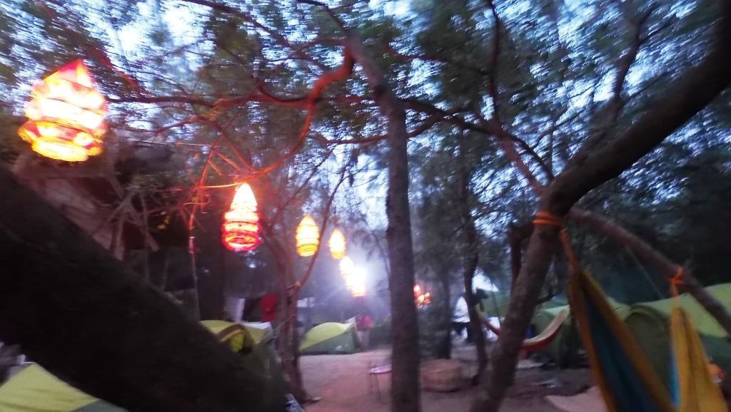 camp site India Surf Festival