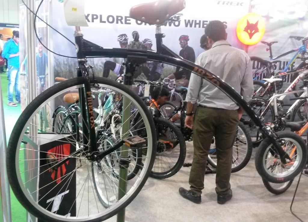 High Wheel Bike on display at the Standard Chartered Mumbai Marathon Expo 2015