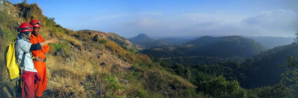 View of Bangladesh from Caving Site in Meghalaya